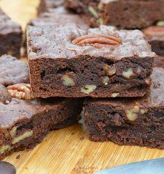 Brownie Fondant, Blondie Brownies, Brookies, Cooking Recipes, Baking, Desserts, Beignets, Biscuits, Food