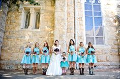 All-American Wedding - Turquoise bridesmaids