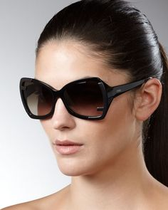 Zucca-Corner Sunglasses, Black by Fendi at Bergdorf Goodman.