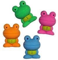 Colorful frog erasers.