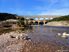 Le Pont du Gard – is the Roman aqueduct located in Provence, France. It's such a construction that makes you feel like a mannikin standing near by. www.victortravelblog.com/2012/08/27/le-pont-du-gard-aqueduct/