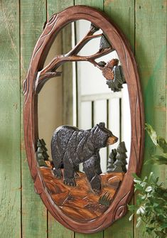 Go to Black Forest Decor now and enjoy discounts up to on rustic mirrors, which includes this Black Bear Carved Wood Mirror!