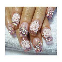 Estas uñas en acrílico te van a sorprender - acrylic nails found on Polyvore