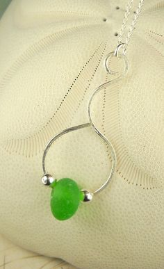 Lavender Sterling Silver Lariat Necklace Sea Glass Jewelry Designs