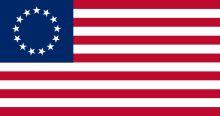 Betsy Ross variation on the 1777 flag - prefer the field of circular stars