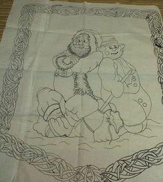 Moldes caminos de mesa y pendones  Christmas embroidery