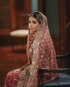 Image may contain: 1 person Indian Bridal Lehenga, Pakistani Bridal Dresses, Indian Dresses, Nikkah Dress, Bride Dresses, Wedding Dresses, Pakistani Couture, Pakistani Mehndi, Bridal Dress Design