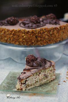 Ferrero Rocher Cake - עוגת פררו רושה Culinary Arts, Cake Recipes, Cooking, Sweet, Desserts, Cakes, Kitchen, Candy, Tailgate Desserts