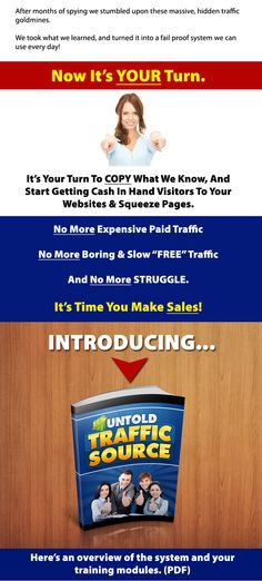 Want more Web Traffic?  Checkout the Untold Traffic Sources Report  http://findwso.com/wso/untold-traffic-sources/