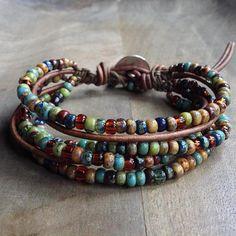 Boho chic bracelet hippie bracelet womens jewelry rustic