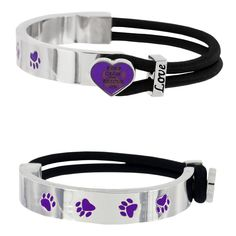 Keep Calm & Rescue On Purple Paw Bracelet at The Animal Rescue Site