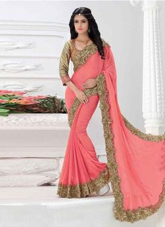 Search results for: 'luscious pink coloured crushed georgette embroidered saree' Bollywood Designer Sarees, Indian Designer Sarees, Latest Designer Sarees, Designer Gowns, Indian Sarees, Indian Wedding Bride, Wedding Wear, Wedding Dress, Designer Sarees Collection
