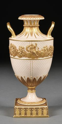 Wedgwood Gilded and Bronzed Earthenware Vase, England, c. 1880,