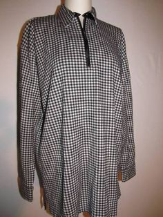 NEW Jones New York houndstooth pullover jacket/big shirt.  Tag size medium, but certainly roomy enough for large!