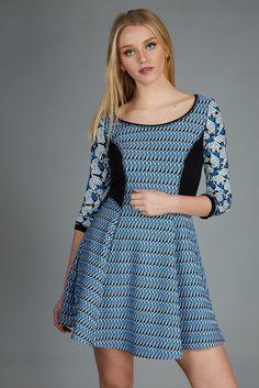 blue dress with stretch #ss17 #spring dress #pinko