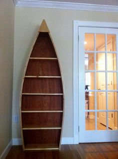 Handmade Wooden Boat Shelf With Free Shipping And Crating Fees