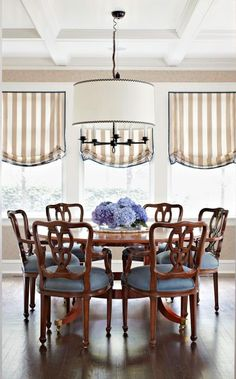 Dress up a ceiling  Add detailed richness to an intimate dining room by applying stock molding to a drywall ceiling.