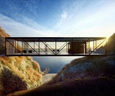 Weekend House design by Craig Ellwood - Architecture and Home Decor - Bedroom - Bathroom - Kitchen And Living Room Interior Design Decorating Ideas - Cantilever Architecture, Residential Architecture, Amazing Architecture, Landscape Architecture, Architecture Design, Geometry Architecture, Craig Ellwood, Cliff House, Weekend House