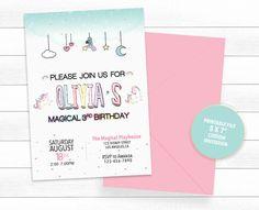 Printable Invitations, Printables, Unicorn Birthday Invitations, Pig Birthday, Magical Unicorn, Printing Companies, Unicorn Party, Invitation Design, Watercolor Flowers