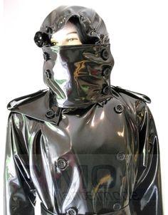 "Raincoat ""Martin"" - Vinyl Coats - RIMO Mantelmode Latex, Plastic Mac, Black Raincoat, Rubber Raincoats, Pvc Coat, Rain Gear, Cosplay, Sexy Outfits, Motorcycle Jacket"