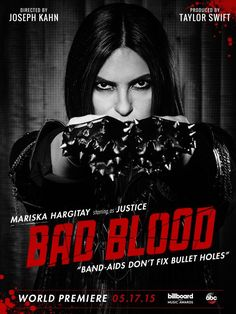Mariska Hargitay on 'Bad Blood' music video poster MARISKA HARGITAY IS MY IDOL SHE IS ALSO MY FAVOURITE ACTRESS