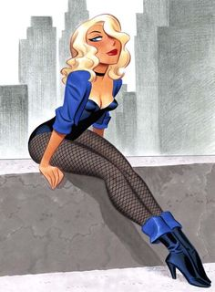 "Drawing Dc Comics corrupting-minds: ""Black Canary by Bruce Timm. Comic Book Artists, Comic Book Characters, Comic Artist, Comic Character, Comic Books Art, Female Characters, Comic Book Girl, Bruce Timm, Black Canary"