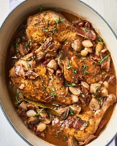 Recipe Review, Onion Recipes, Chicken Recipes, Chicken Coq Au Vin Recipe, Spareribs, French Dishes, French Food, Food Reviews, Gastronomia