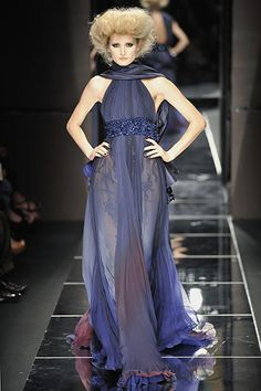Elie Saab Fall 2008 Couture Fashion Show - Michaela Kocianova