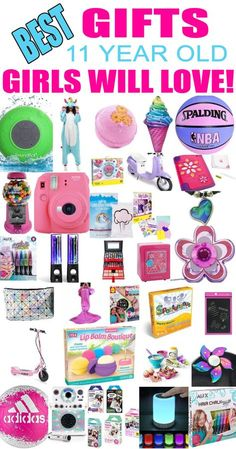Gifts 11 Year Old Girls! Best gift ideas and suggestions for 11 yr old girls. Top presents for a girl on her eleventh birthday or Christmas! Coolest gifts for that special girl. Get the top gifts on any tween or teen girls gift list or gift guide now! Birthday Presents For Teens, Teen Presents, Presents For Her, Gifts For Teens, Teen Birthday, Birthday Crafts, Best Birthday Gifts, Birthday Ideas, Birthday Nails