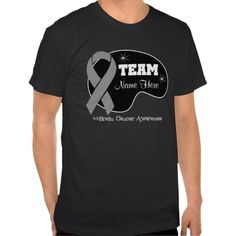 Personalize Team Name - Brain Cancer Shirt #Personalized #tshirt