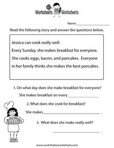 Printables Free Printable 1st Grade Reading Comprehension Worksheets kindergarten christmas worksheets and reading on pinterest