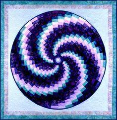 Free Bargello Quilt Patterns | Bargello Swirl - circular bargello » Arbee Designs