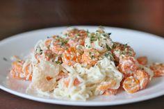 Shrimp and Shirataki Alfredo : Kendra's Treats