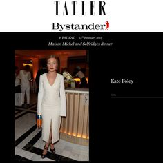@malonesouliers on @real_kate_foley in @Tatleruk Uber stylist and Creative Consultant Kate Foley attends the Maison Michel And @theofficialSelfridges dinner during London Fashion Week at Selfridges. The New Yorker looked ravishing in white with navy suede and midnight patent Malone Souliers' open-toed 'Lolo' strappy heel stilettos. #MaloneSouliers #KateFoley #MaisonMichel #Selfridges #Lolo #stiletto #luxury #womens #shoes #fashion
