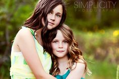 sibling pose by Simplicity Photography I want one of these of the girls!! @Kimberly Dixon