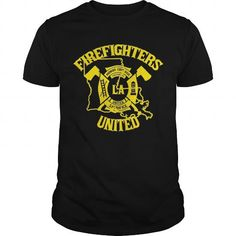 Awesome Tee Louisiana Firefighters United T-Shirts