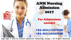 Get detailed information on ANM Nursing Course Admission 2017. ANM Application Form 2017 details, fee structure. For any queries contact @ 09311707000, 09312650500.
