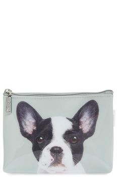 Catseye London 'Boston Terrier' Cosmetics Case available at #Nordstrom