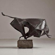 brutalist-bull-sculpture-talisman-475x475   Brutalist charging bull sculpture, mid 60's Talisman UK