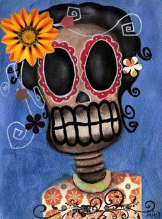 Frida Muerta by Abril Andrade Day of the Dead Tattoo Canvas Art Print – moodswingsonthenet