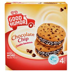 Good Humor® Chocolate Chip Cookie Sandwich will be available in multipacks for the very first time this April.