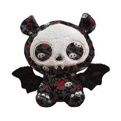 Skelanimals Diego (Bat) 6-Inch Beanie Plush - TOYNAMI - Skelanimals -... found on Polyvore