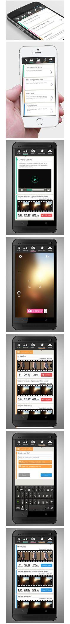 Jouer sur les bordures des box avec High-Fidelity, un concept #App #Mobile #UI #Design