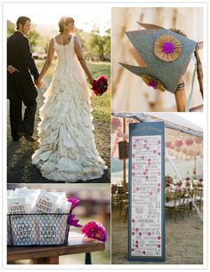 Her DRESS.  Plus a super creative wedding