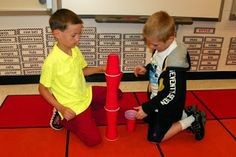 Carnival of Animals-stacking cups and learning about tempo with Carnival of the Animals