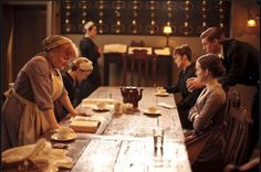 """Downton Abbey Servant's Floor - The only """"rooms"""" not filmed inside the home are the staff's quarters. Those are filmed on a set. - See more at: http://betweennapsontheporch.net/tour-highclere-castle-home-of-downton-abbey/#sthash.NkdiKGl4.dpuf"""