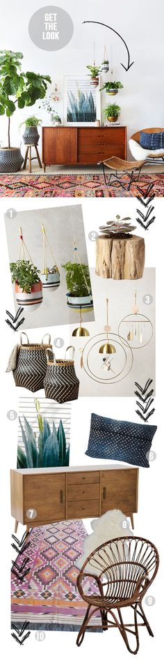 Amber Interiors - Get the Look - Hanging Garden // http://amberinteriordesign.com/