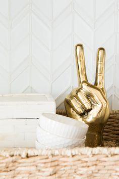 brass peace sign gands scultore - Google Search