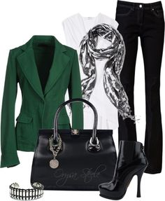 """Emerald Envy"" by orysa on Polyvore"