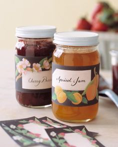 Summer Homekeeping Tips - Made from scratch with the season's ripe harvest, jam seems to capture the very essence of summer. Dressed in pretty stickers, jars of homemade preserves make delicious gifts.